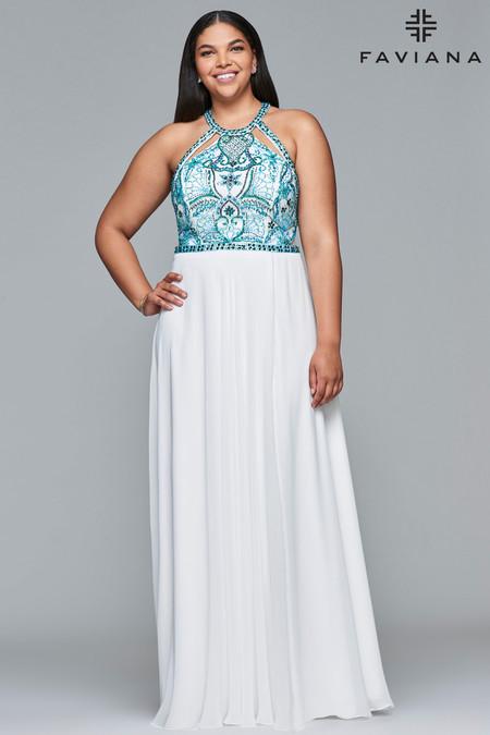 Faviana 9434 Plus Size Dress | Onlineformals.com