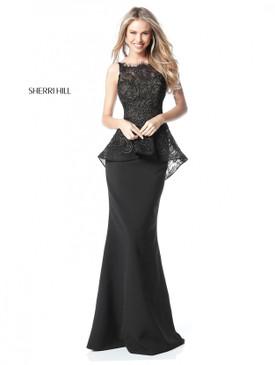 Sherri Hill 51490 Peplum Dress