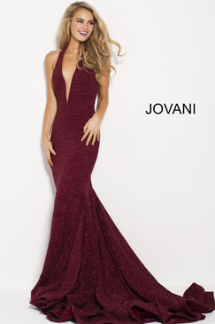 Jovani 55414 Mermaid Halter Gown