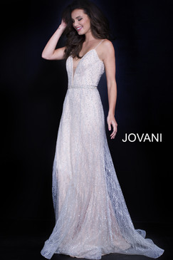Jovani 56050 Beaded Tulle Dress