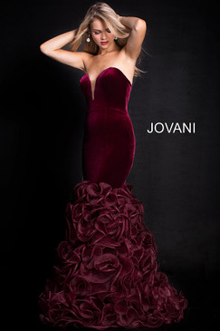 Jovani 27903 Velvet Mermaid Dress