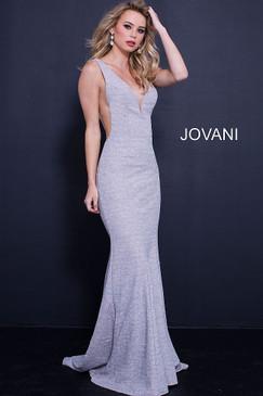 Jovani 45811 Glitter Jersey Dress