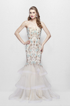 Primavera 3003 Sequin Prom Dress