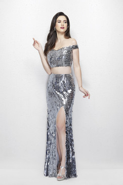Primavera 3008 Sequin Prom Dress