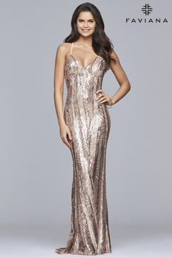 Faviana ES10112 Sequin Dress