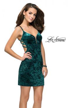 La Femme 26636 Velvet Dress
