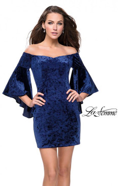 La Femme 26640 Short Velvet Dress