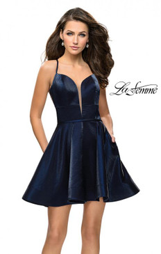 La Femme 26659 Simple Dress