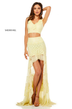 Sherri Hill 52472 Two Piece Lace Dress