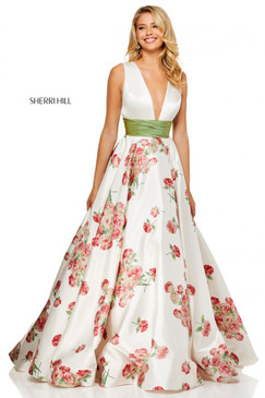 Sherri Hill 52632 Floral Print Ballgown Dress