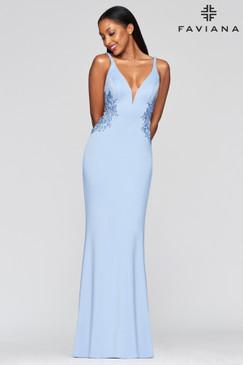 Faviana S10226 Neoprene Dress