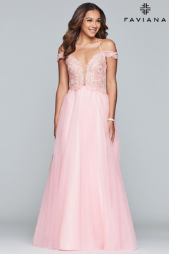 Faviana S10229 Tulle Dress