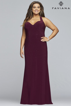 Faviana 9458 Plus Size Jersey Dress
