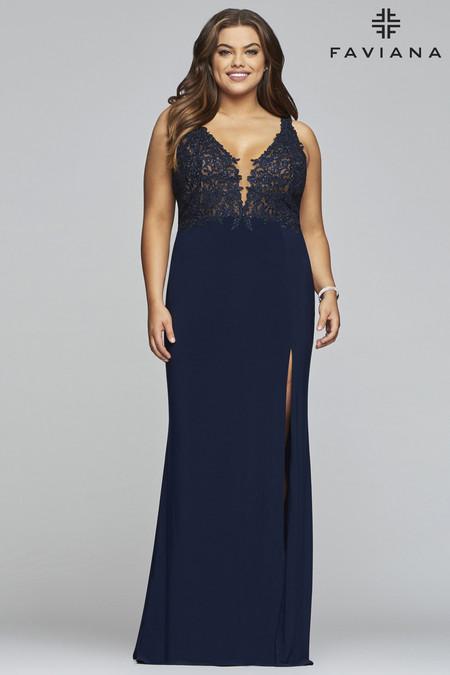 Faviana 9463 Plus Size Dress | Onlineformals.com