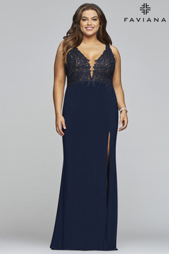 Faviana 9463 Stretch Jersey Plus Size Dress