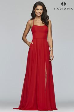 Faviana S10233 Flowy Dress