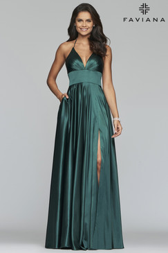 Faviana S10255 Satin Dress