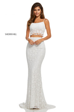 Sherri Hill 52810 Two Piece Lace Dress