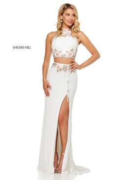 Sherri Hill 52682 Two Piece Beaded Dress