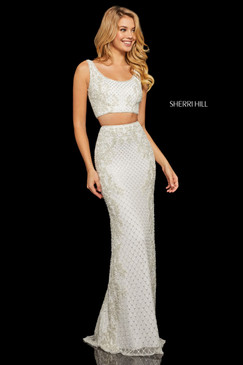 Sherri Hill 52686 Two Piece Beaded Dress