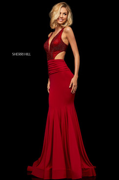 Sherri Hill 52793 Fit and Flare Jersey Dress