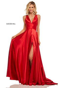 Sherri Hill 52922 Satin Dress
