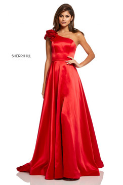 Sherri Hill 52619 One Shoulder Satin Dress