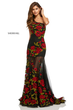 Sherri Hill 52761 One Shoulder Dress