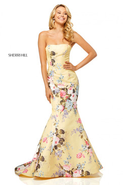 Sherri Hill 52551 Floral Print Mermaid Dress