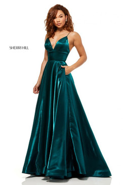Sherri Hill 52424 Metallic A-Line Dress