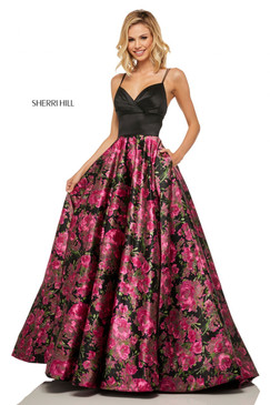 Sherri Hill 52931 Floral Print Ballgown Dress
