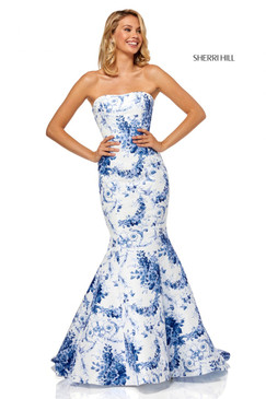 Sherri Hill 52618 Floral Print Mermaid Dress