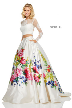 Sherri Hill 52625 Two Piece Ballgown Dress