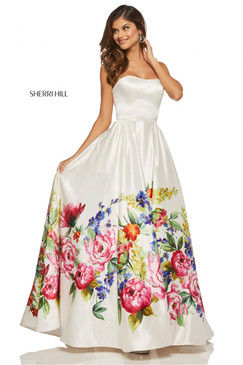 Sherri Hill 52626 Floral Print Ballgown Dress