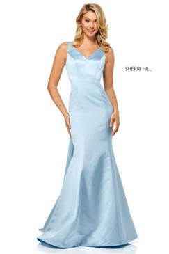 Sherri Hill 52540 Satin Mermaid Dress
