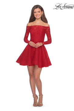 La Femme 28175 short homecoming dress