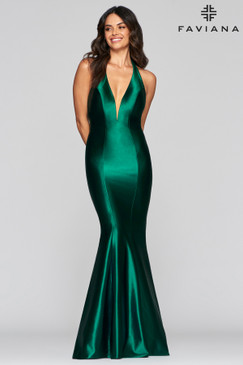 Faviana S10412 Halter Fit Flare Dress
