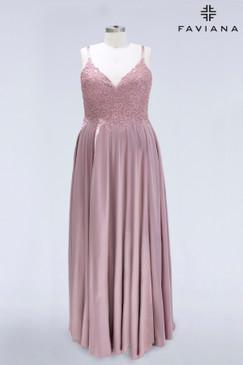Faviana 9498 Satin Plus Size Dress