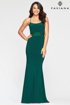 Faviana S10421 Jersey Strappy Back Dress