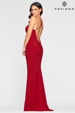 Faviana S10420 Simple Low Back Dress