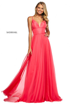 Sherri Hill 53634 Chiffon Flowy Dress