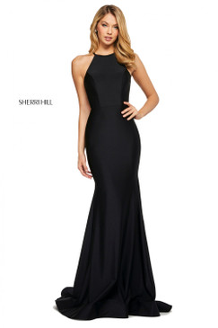 Sherri Hill 53663 Simple Halter Dress