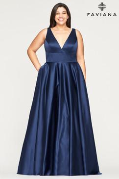 Faviana 9496 Satin Ballgown Dress