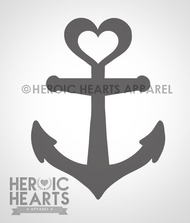 Anchor Heart Decal