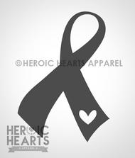 Ribbon Heart Decal