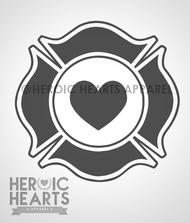 Firefighter Heart Decal
