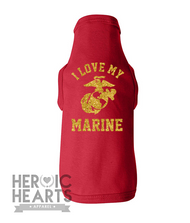 I Love My Marine Doggie Tee