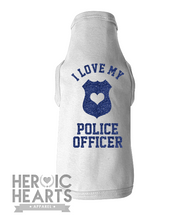 I Love My Police Officer Doggie Tee