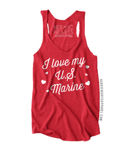 I Love My U.S. Marine Hearts Shirt