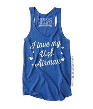 I Love My U.S. Airman  Hearts Shirt